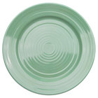 CAC TG-6-G Tango 6 1/2 inch Green Round Plate - 36/Case