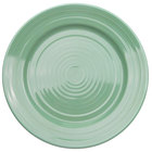 CAC TG-16-G Tango 10 1/2 inch Green Round Plate - 12/Case