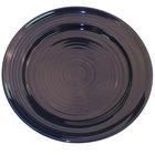 CAC TG-16-CBU Tango 10 1/2 inch Cobalt Blue Round Plate - 12/Case