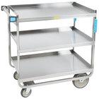 Lakeside 544 Heavy Duty NSF Stainless Steel 3 Shelf Utility Cart - 22 3/8 inch x 38 5/8 inch x 37 1/8 inch