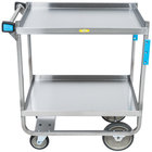 Lakeside 521 Heavy Duty NSF Stainless Steel 2 Shelf Utility Cart - 19 3/8 inch x 32 5/8 inch x 35 1/2 inch