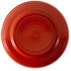 CAC TG-8-R Tango 9 inch Red Round Plate - 24/Case
