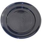 CAC TG-9-CBU Tango 9 7/8 inch Cobalt Blue Round Plate - 24/Case