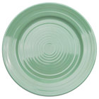 CAC TG-7-G Tango 7 1/2 inch Green Round Plate - 36/Case