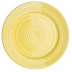 CAC TG-9-SFL Tango 9 7/8 inch Sunflower Round Plate - 24/Case