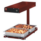 Hatco GRFFBL Glo-Ray Radiant Red 12 3/4 inch x 24 inch Portable Food Warmer with Heated Base and Overhead Light - 120V, 870W