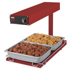 Hatco GRFFBI Glo-Ray Red 12 3/4 inch x 24 inch Portable Food Warmer with Infinite Controls and Heated Base - 120V, 750W