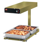 Hatco GRFFBL Glo-Ray Gleaming Gold 12 3/4 inch x 24 inch Portable Food Warmer with Infinite Controls, Heated Base and Overhead Light - 120V, 870W
