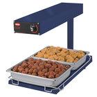 Hatco GRFFBI Glo-Ray Brilliant Blue 12 3/4 inch x 24 inch Portable Food Warmer with Infinite Controls and Heated Base - 120V, 750W