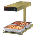 Hatco GRFFBL Glo-Ray Gleaming Gold 12 3/4 inch x 24 inch Portable Food Warmer with Heated Base and Overhead Light - 120V, 870W