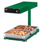 Hatco GRFFBL Glo-Ray Green 12 3/4 inch x 24 inch Portable Food Warmer with Infinite Controls, Heated Base and Overhead Light - 120V, 870W