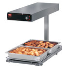 Hatco GRFFBL Glo-Ray Glossy Gray 12 3/4 inch x 24 inch Portable Food Warmer with Infinite Controls, Heated Base and Overhead Light - 120V, 870W