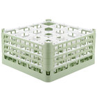 Vollrath 52770 Signature Full-Size Light Green 16-Compartment 9 1/16 inch XX-Tall Plus Glass Rack