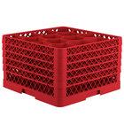 Vollrath TR18JJJJJ Traex® Rack Max Full-Size Red 12-Compartment 11 7/8 inch Glass Rack