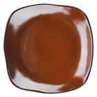 Tuxton GAR-502 Artisan Red Rock 11 inch Square China Plate - 12 / Case
