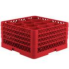 Vollrath TR18JJJJ Traex® Rack Max Full-Size Red 12-Compartment 9 7/16 inch Glass Rack