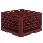 Vollrath TR18JJJJJ Traex® Rack Max Full-Size Burgundy 12-Compartment 11 7/8 inch Glass Rack