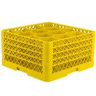 Vollrath TR18JJJJ Traex® Rack Max Full-Size Yellow 12-Compartment 9 7/16 inch Glass Rack