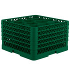 Vollrath TR18JJJJJ Traex® Rack Max Full-Size Green 12-Compartment 11 7/8 inch Glass Rack