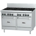 """Garland GF48-4G24LL Natural Gas 4 Burner 48"""" Range with Flame Failure Protection, 24"""" Griddle, and 2 Space Saver Ovens - 204,000 BTU"""