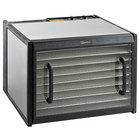 Excalibur D900CDSHD Stainless Steel Nine Rack Food Dehydrator with Clear Door, Stainless Steel Trays, and Timer - 600W