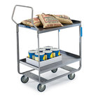 Lakeside 4510 Handler Series Stainless Steel Two Shelf Heavy Duty Utility Cart - 30
