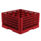 Vollrath TR8DDDD-02 Traex® Full-Size Red 16-Compartment 11 inch Glass Rack