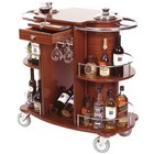 Geneva 70260 Beverage Service Cart with 2 Shelves and Bordeaux Veneer Finish - 39 3/8