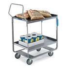 Lakeside 4521 Handler Series Stainless Steel Two Shelf Heavy Duty Utility Cart - 32 5/8
