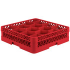 Vollrath TR18J Traex® Rack Max Full-Size Red 12-Compartment 4 13/16 inch Glass Rack