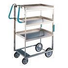 Lakeside 5925 Stainless Steel Three Shelf Ergo-One System Utility Cart - 41 3/8 inch x 21 5/8 inch x 46 3/4 inch