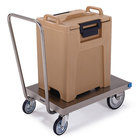 Lakeside 454 Stainless Steel Single Handle Platform Truck - 36 1/4 inch x 21 inch x 35 1/4 inch