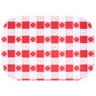 Hoffmaster 309000 10 inch x 14 inch Red Gingham Paper Placemat - 1000 / Case