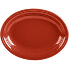 Homer Laughlin 457326 Fiesta Scarlet 11 5/8 inch x 8 7/8 inch Oval Medium China Platter - 12/Case