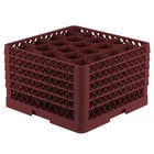 Vollrath TR11GGGGG Traex® Rack Max Full-Size Burgundy 20-Compartment 11 7/8 inch Glass Rack