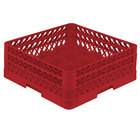 Vollrath TR8DA Traex® Full-Size Red 16-Compartment 6 3/8 inch Glass Rack with Open Rack Extender On Top