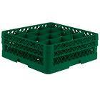 Vollrath TR8DD Traex Full-Size Green 16-Compartment 6 3/8 inch Glass Rack