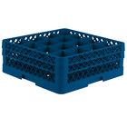 Vollrath TR8DD Traex® Full-Size Royal Blue 16-Compartment 6 3/8 inch Glass Rack
