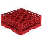 Vollrath TR11GG Traex® Rack Max Full-Size Red 20-Compartment 6 3/8 inch Glass Rack