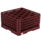 Vollrath TR11GGGA Traex® Rack Max Full-Size Burgundy 20-Compartment 9 7/16 inch Glass Rack with Open Rack Extender On Top