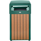Rubbermaid FGR34HT50PLEGN Regent 50 Series Hinged-Top Empire Green Steel and Polyethylene Square Waste Receptacle with Rigid Plastic Liner 29 Gallon