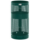 Rubbermaid FGH1NEGN Towne Series Empire Green Perforated Steel Pole/Wall Mount with Drain Holes 10 Gallon