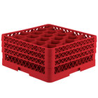 Vollrath TR11GGG Traex® Rack Max Full-Size Red 20-Compartment 7 7/8 inch Glass Rack