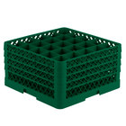 Vollrath TR6BBBB Traex® Full-Size Green 25-Compartment 9 7/16 inch Glass Rack