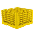 Vollrath TR6BBBBB Traex® Full-Size Yellow 25-Compartment 11 inch Glass Rack