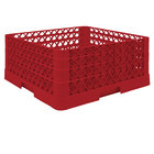 Vollrath TR6BBA Traex® Full-Size Red 25-Compartment 7 7/8 inch Glass Rack with Open Rack Extender On Top