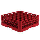 Vollrath TR6BB Traex® Full-Size Red 25-Compartment 6 3/8 inch Glass Rack