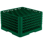Vollrath TR12HHHHH Traex Rack Max Full-Size Green 30-Compartment 11 7/8 inch Glass Rack
