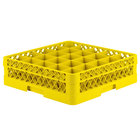 Vollrath TR6B Traex® Full-Size Yellow 25-Compartment 4 13/16 inch Glass Rack