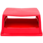 Rubbermaid FG256X00 Glutton Red Hooded Top With Doors for FG256B00 Container (FG256X00RED)